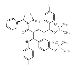 3-[(2R,5S)-5-(4-Fluorophenyl)-2-[(S)-[(4-fluorophenyl(amino)]][4-[trimethylsilyl]-oxy]phenyl]methyl]-1-oxo-5-[(trimethylsily)-oxy]pentyl]-4-phenyl-(4S)-2-oxazolidinone